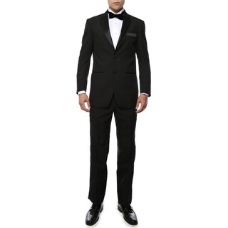 Paul Lorenzo 1969 By Ferrecci Black Regular Fit 2pc Tuxedo (More options available)