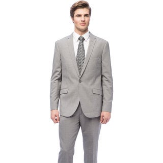 West End Men's Slim Fit Grey 1-button Suit