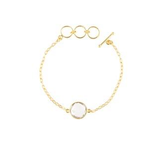 Gold Overlay Quartz Gemstone Bracelet