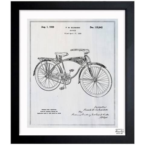 Oliver Gal 'Schwinn Bicycle' Framed Blueprint Art