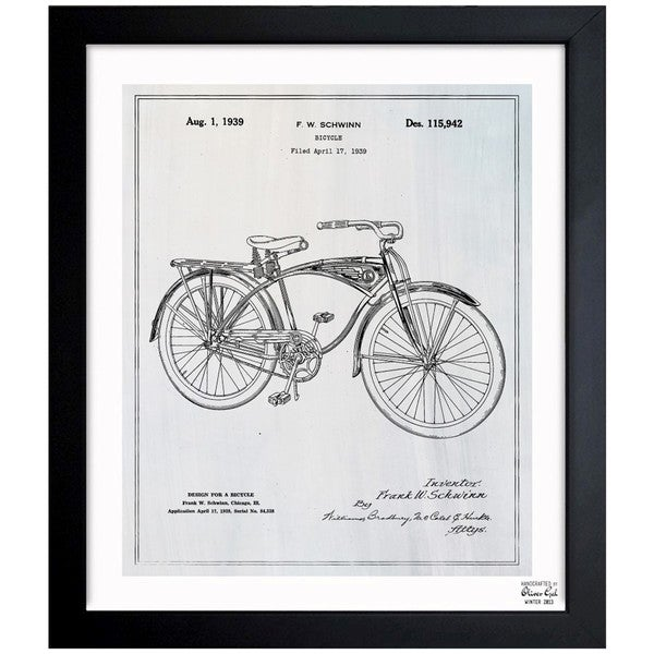 Oliver gal schwinn bicycle framed blueprint art free shipping oliver gal x27schwinn bicyclex27 framed blueprint art malvernweather Images
