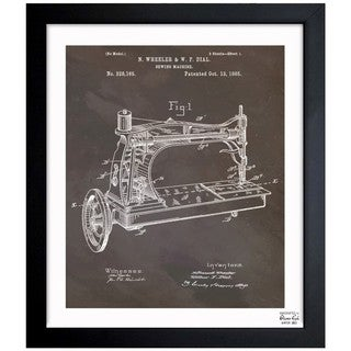 Oliver Gal 'Sewing Machine, 1885' Framed Blueprint Art