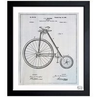 Shop oliver gal schwinn bicycle 1939 grey framed blueprint art oliver gal bicycle 1899 framed blueprint art malvernweather Image collections