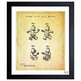 Lego Toy Figure #2, 1979' Framed Blueprint Art