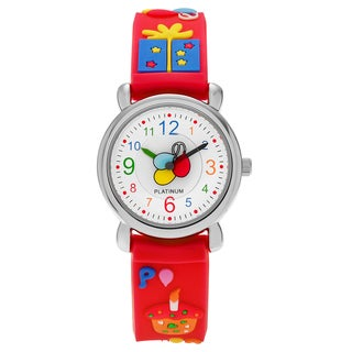 Geneva Platinum Kid's Birthday Party Silicone Strap Watch