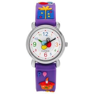 Geneva Platinum Kid's Birthday Party Silicone Strap Watch