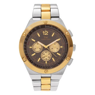 Territory Men's Round Chronograph Dial Link Bracelet Watch - Two-Tone