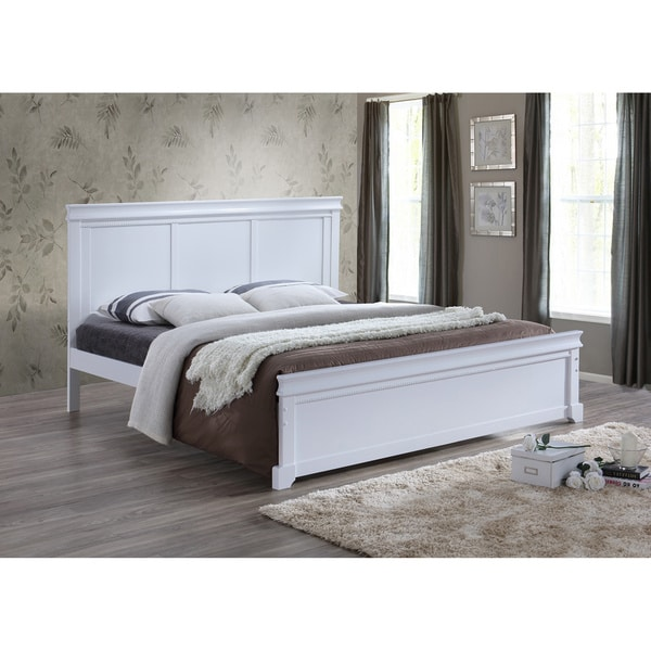 Baxton Studio Aether Colonial Revival Style White Solid Wood Platform Bed