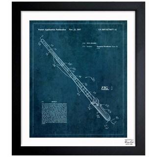 Oliver Gal 'Toy Sword, 2007' Framed Blueprint Art