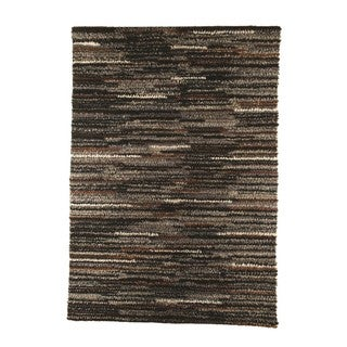 M.A.Trading Indian Hand-woven Mat Mix Charcoal Rug (5'6 x 7'10)