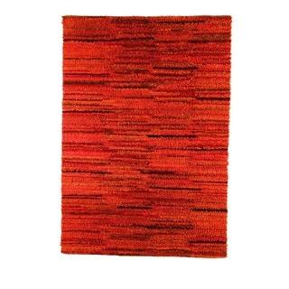 M.A.Trading Indian Hand-woven Mat Mix Rust Rug (5'6 x 7'10)