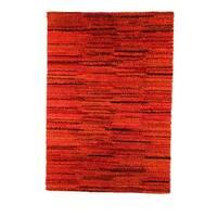 Handmade M.A.Trading Indian Mat Mix Rust Rug (India)