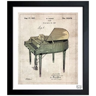Link to Oliver Gal 'Piano Gray 1937' Framed Blueprint Art Similar Items in Canvas Art