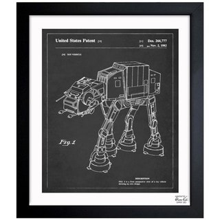 Oliver Gal 'Toy Vehicle, 1982 - Noir' Framed Blueprint Art
