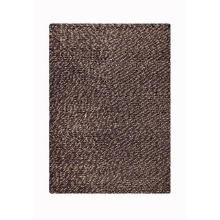 M.A.Trading Indian Hand-woven Omega Chocolate Rug (5'x8')