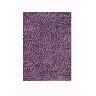 M.A.Trading Indian Hand-woven Omega Lilac Rug (5'x8')