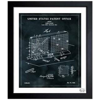 'Battleship Game Board, 1935' Framed Blueprint Art