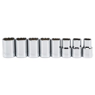 "Crescent CSAS1 1/2"" Drive SAE Impact Socket 8 Piece Set"