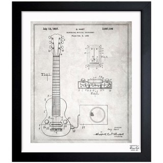 Link to Oliver Gal 'Gibson Pickup 1937' Framed Blueprint Art Similar Items in Canvas Art