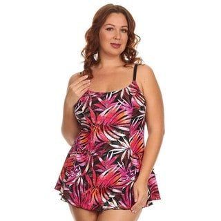 Dippin Daisy's Plus Size Orange Leaves One Piece Swimdress