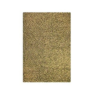 M.A.Trading Indian Hand-woven Omega Olive Rug (5'x8')