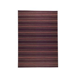 M.A.Trading Indian Hand-woven Savannah Brown Rug (5'6 x 7'10)