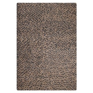 M.A.Trading Indian Hand-woven Omega Smoke Rug (5'x8')