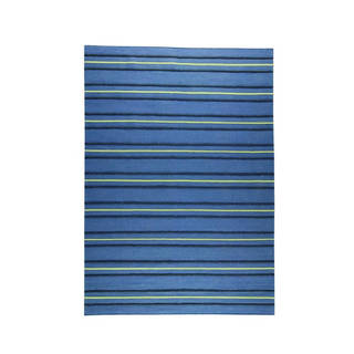 M.A.Trading Indian Hand-woven Savannah Blue Rug (5'6 x 7'10)