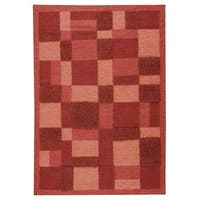 M.A.Trading Indian Hand-woven Veracruz Red Rug (5'6 x 7'10)
