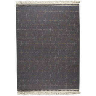 M.A.Trading Indian Hand-woven Bergen Grey Rug (5'6 x 7'10)