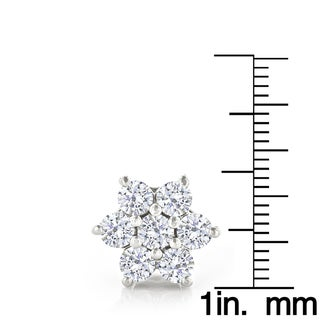 Luxurman 14k Gold 3ct TDW Unique Diamond Cluster Stud Earrings (H-I, SI1-SI2)