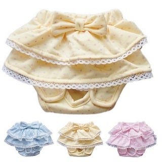 Doggie Diaper with Ruffles and Bow (4 options available)