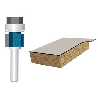"Bosch 85269M 3/8"" Laminate Flush Trim Router Bit Double Flute"
