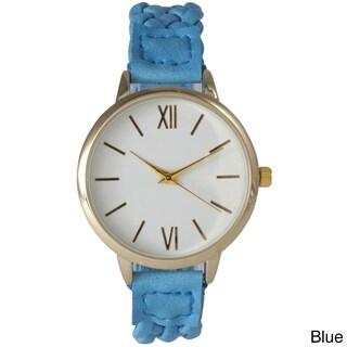 Olivia Pratt Women's Braided classically inspired Watch (Option: Blue)
