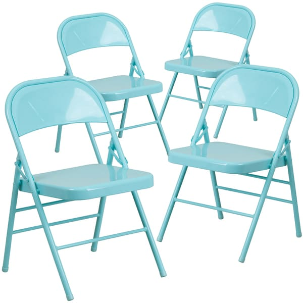 Lancaster Home ColorBurst Steel Folding Chair (Set of 4)