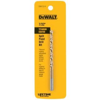 """Dewalt DW1314 7/32"""" Titanium Split Point Drill Bit"""
