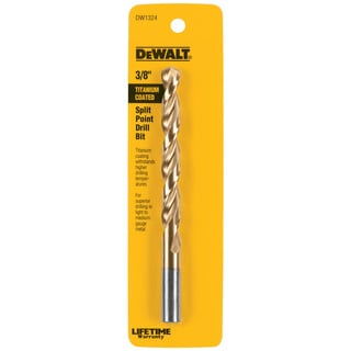 """Dewalt DW1324 3/8"""" Titanium Split Point Drill Bit"""