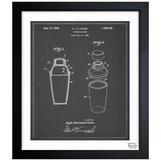 Oliver Gal 'Cocktail Mixer 1930' Framed Blueprint Art