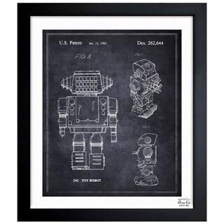 Oliver Gal 'Toy Robot, 1982' Framed Blueprint Art
