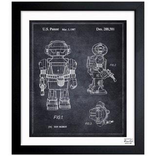 Oliver Gal 'Toy Robot II, 1987' Framed Blueprint Art