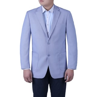 Verno Simone Men's Light Blue Birdseye Textured Classic Fit Italian Styled Blazer