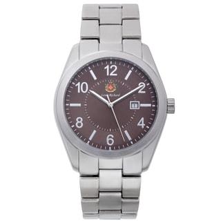 Louis Richard Carlisle Men's Textured Brown Dial Design Watch
