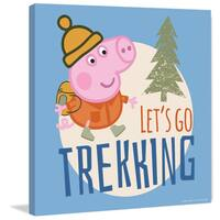 Marmont Hill 'Let's Go Trekking Blue' Peppa Pig Painting Print on Canvas - Multi-color