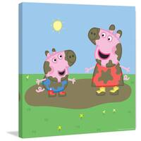 Marmont Hill 'Muddy Faces' Peppa Pig Painting Print on Canvas - Multi-color
