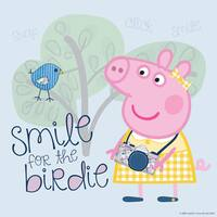 Marmont Hill 'Smile for the Birdie' Peppa Pig Painting Print on Canvas - Multi-color