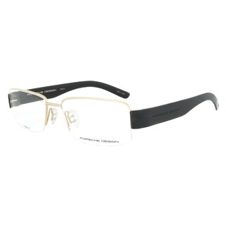 Porsche Design P8203 A Titanium Gold and Black Eyeglasses Frame