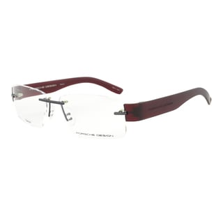 Porsche Design P8206 D Titanium Gunmetal and Dark Red Eyeglasses Frame