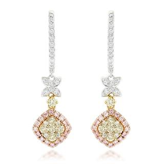 Luxurman 14k Gold 1 2/5ct TDW Diamond Drop Earrings|https://ak1.ostkcdn.com/images/products/11536164/P18482964.jpg?impolicy=medium