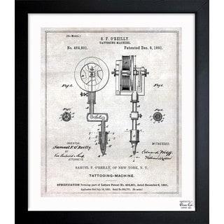 Oliver Gal 'Tattoo Machine 1891' Framed Blueprint Art