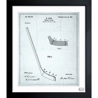 Oliver Gal 'Hockey Stick 1900' Framed Blueprint Art